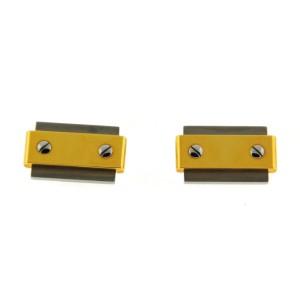 Cartier Santos 18K Yellow Gold Stainless Steel Cufflinks