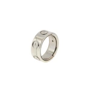 Cartier Love 18K White Gold Secret Puzzle Ring Size 4.25