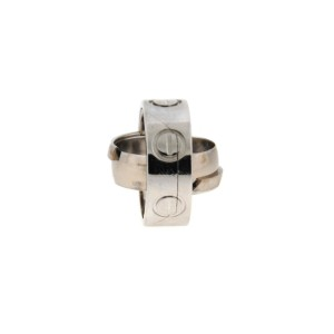 Cartier Love 18K White Gold Secret Puzzle Ring Size 4.25