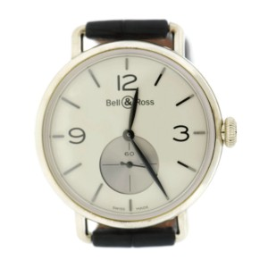 Bell & Ross WW1 BRWW1-ME-AG-OP/SCR Argentium / Leather 41mm Mens Watch