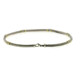 David Yurman 14K Yellow Gold & 925 Sterling Silver Classic Cable Pearl Necklace