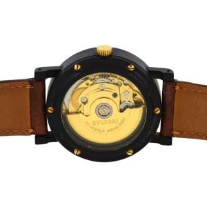 Bulgari Las Vegas Carbon & Leather Automatic 34mm Unisex Watch