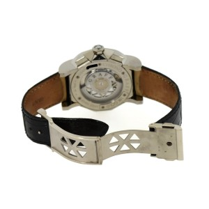 Graff ChronoGraff CG45DLCWG 18K White Gold & Leather Automatic 45mm Mens Watch