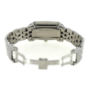Jaeger LeCoultre Reverso 296.8.74 Stainless Steel with Diamond Manual 25mm Womens Watch
