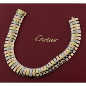 Cartier Vintage 18K Tri Color Gold Bracelet