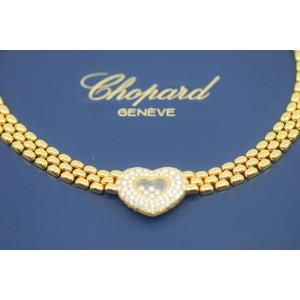 Chopard Happy Diamonds 18K Yellow Gold Heart Necklace 81/5427