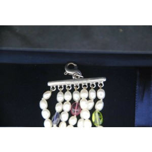 Tiffany & Co Gemstone Pearl 18K White Gold Bracelet