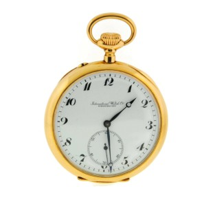 IWC Vintage Manual Wind 18K Yellow Gold Pocket Watch