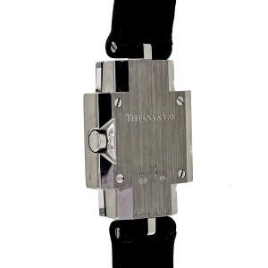 Tiffany & Co Art Deco 1990 18k White Gold Diamond Strap Watch