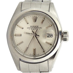 Ladies Rolex Stainless Steel Date Silver 6916