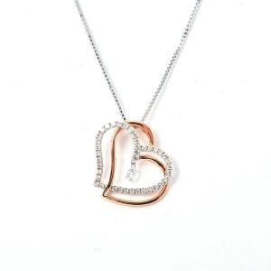 18k pink/white gold Diamond Necklace