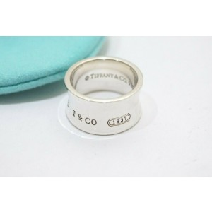 """Tiffany & Co. Sterling Silver 1837 Wide Ring Size 5"""""""