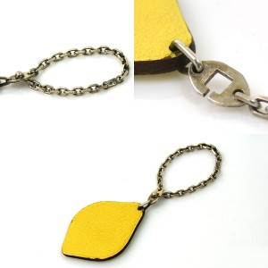 Hermes Metal Leather Key Chain