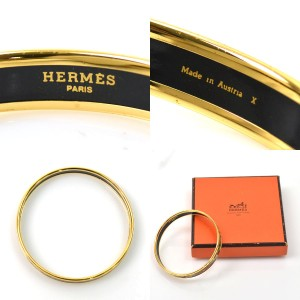 Hermes Gold Metal Bangle Bracelet