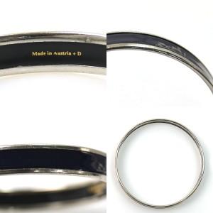 Hermes Enamel Silver Tone Metal Bracelet