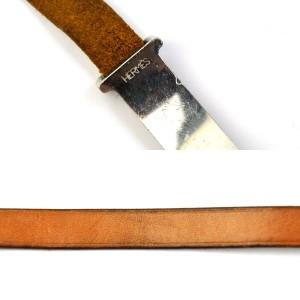 Hermes Metal Leather Bangle Bracelet