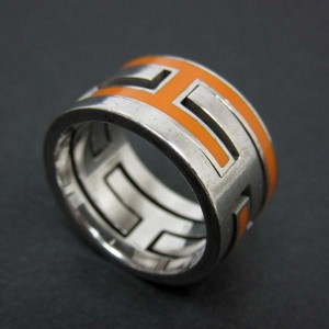 Hermes Move H Ring  Sterling Silver Ring