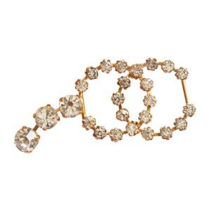 Vintage Chanel CC Rhinestone Necklace