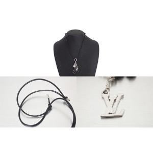 Louis Vuitton Metal Leather Enamel Necklace