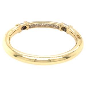 Estate 18k Yellow Gold Single Cut Diamond Bangle Bracelet