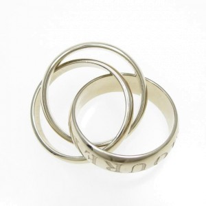 Cartier 18K White Gold Trinity Ring 4.5