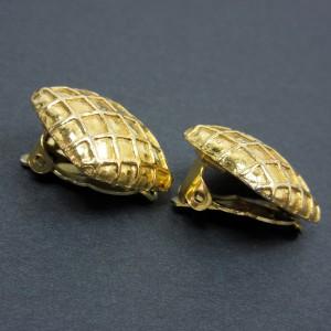 Hermes Metal Gold Earrings