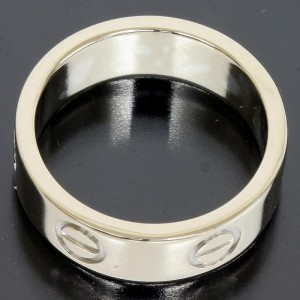 Cartier 18K White Gold Love Ring Size 5