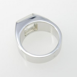 Cartier 18K White Gold Tank Ring Size 5.75