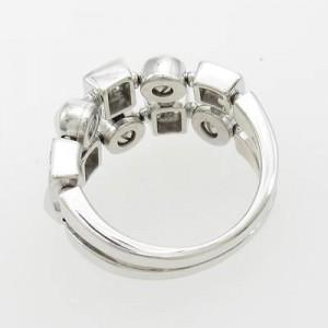 Bulgari 750 White Gold Lucia Ring