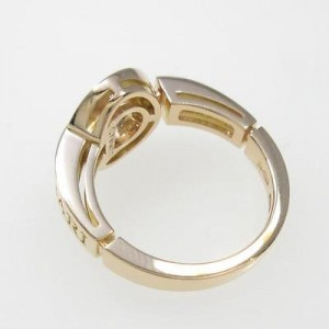 Bulgari 750 Pink Gold Ring Size EU 49 U.S. 49