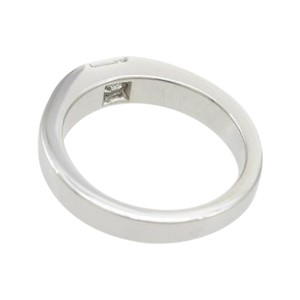 Cartier 750 White Gold Tank Ring Size 5.25