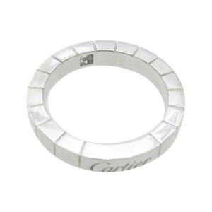 Cartier 750 White Gold Lanieres Ring Size 4.5