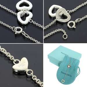 Tiffany & Co. Sterling Silver Heart Lariat Necklace