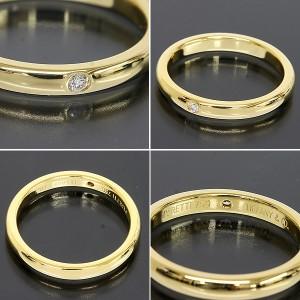 Tiffany And Co. 18K Yellow Gold Diamond Band Ring