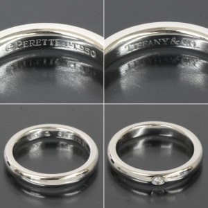 Tiffany & Co. Platinium Diamond Band Ring