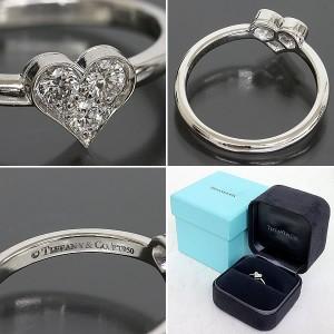 Tiffany & Co. Pt950 Platinum Heart Diamond Ring