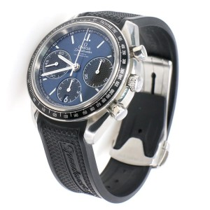 Omega Speedmaster Racing 40mm Steel Watch with Blue Dial