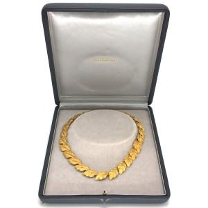 Buccellati 18k Yellow Gold Leaf Necklace