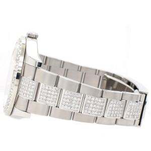 Rolex Datejust II 41mm 6.15ct Diamond Bezel/Bracelet/White Pearl Diamond Roman Dial Steel Watch 116300