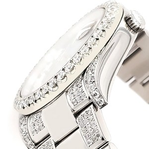 Rolex Datejust II 41mm Diamond Bezel/Lugs/Bracelet/Imperial Red Diamond Dial Steel Watch 116300