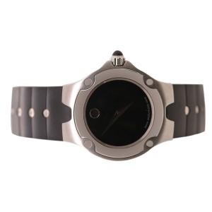 Movado Black Rubber Strap Watch