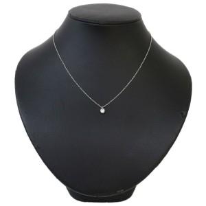 Tiffany & Co. 950 Platinum Solitaire Diamond Pendant Necklace