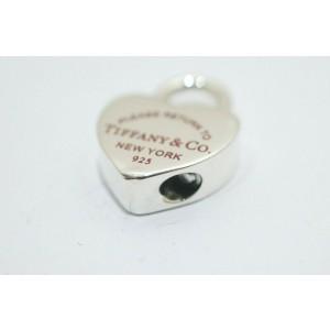 Tiffany & Co. Sterling Silver Red Enamel Return To Tiffany Padlock Charm