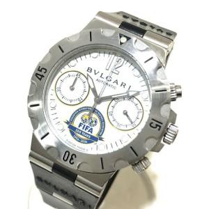 BVLGARI SC38WSV Stainlees Steel/Rubber Diagono Scuba FIFA 100th Anniversary Watch