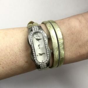 PHILIP STEIN SIgnature Steel MOP Dial ~1.2TCW Diamonds Stress Relief Watch