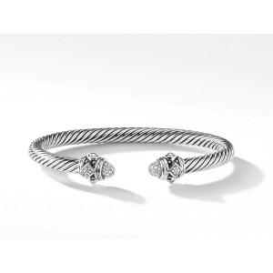 David Yurman Sterling Silver Renaissance Bracelet with Diamonds