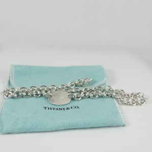 "Tiffany & Co. Sterling Silver ""Return to Tiffany"" Oval Tag Necklace"