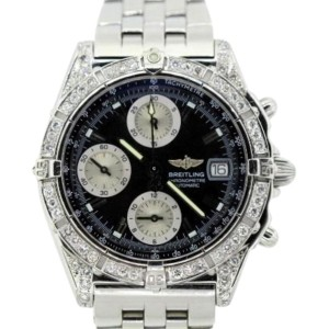 Breitling Chronomat Stainless Steel & 2.4 Ct Diamond Mens Watch
