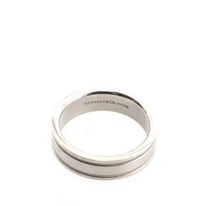 Tiffany & Co. Essential Double Miligrain RIng Platinum 8.75 - 59