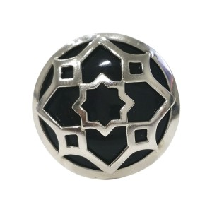 Tiffany & Co. Paloma Picasso Marrakesh Medallion Sterling Silver Ring Size 7.5